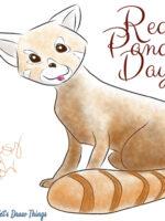 Red Panda, Drawn with Manga Studio 4EX