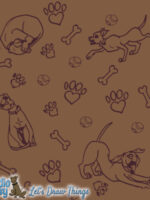 dog graphic design background